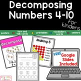 Decomposing Numbers 4-10, both addends unknown, whole part part, number bonds