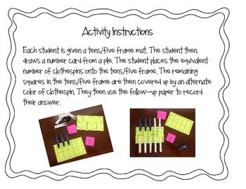 Decomposing Numbers Activity