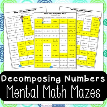 Decomposing Numbers Activity - Mental Math Center