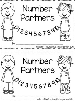 Number Books {Decomposing Numbers Emergent Reader}