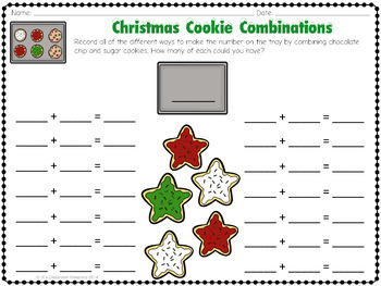 Christmas Addition Math Center Freebie