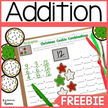 Christmas Math Center Freebie