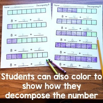 Decomposing Numbers Cut and Paste Book - Numbers 2 through 10