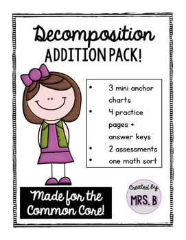 Decomposing Numbers: Decomposition Addition Pack
