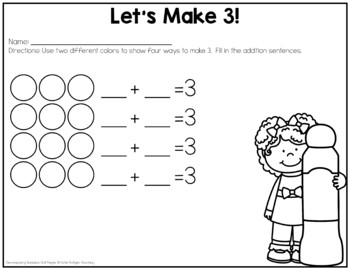 Decomposing Numbers Dot Pages