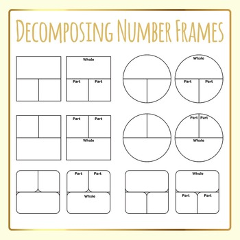 Decomposing Numbers Frames Number Bonds Clip Art Commercial Use