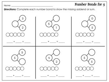 Decomposing Numbers: Independent Practice