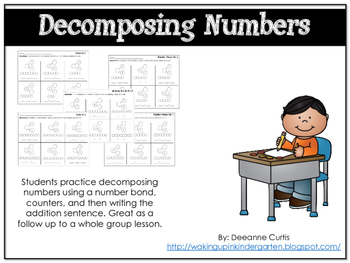 Decomposing Numbers: Independent Practice