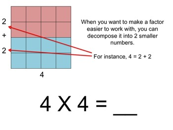 Decomposing Numbers - Intro to Distributive Property FREEBIE