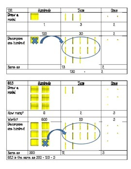 Decomposing Numbers---Introduction to Subtraction