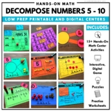 Decomposing Numbers Math Centers
