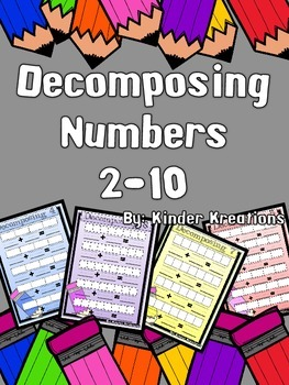 Decomposing Numbers - Kindergarten Math Learning Centers