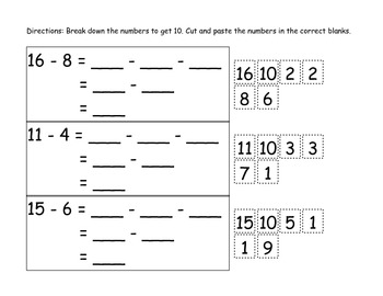 Decomposing Numbers: Model and Practice using Brace Maps