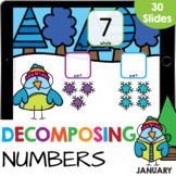 Decomposing Numbers: Number Bonds 3-10 Math Google Slide D