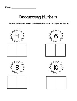 Decomposing Numbers Pack