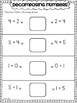 Decomposing Numbers Practice Sheets