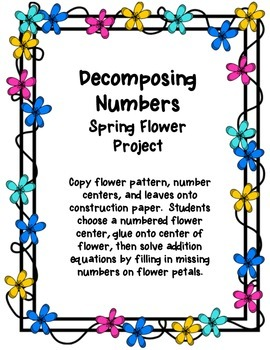Decomposing Numbers Spring Flower Project