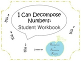 Decomposing Numbers: Student Notebook
