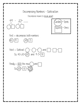 Decomposing Numbers Subtraction Strategy