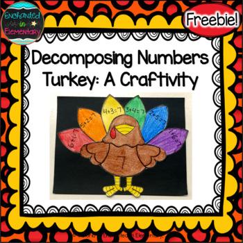 Decomposing Numbers Turkey: A Craftivity {Freebie!}