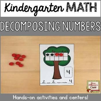 Decomposing Numbers Kindergarten Worksheets Teaching