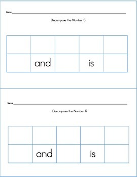 Decomposing Numbers in Many Ways Worksheets