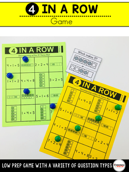 Decomposing Numbers to 10 Games and Centers Kindergarten