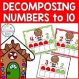 Decomposing Numbers to 10 Kindergarten Christmas Math Center