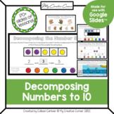 Decomposing Numbers to 10 for Kindergarten/Spec Ed - Digit