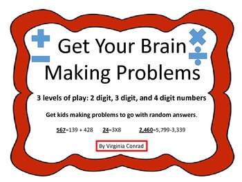 Decomposing Numbers to Make Problems that Match an Answer-