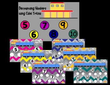 Number of the Day and Decomposing Numbers with Cube Trains