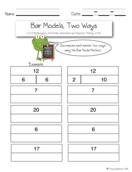 Decomposing Numbers with Number Bonds and Bar Models