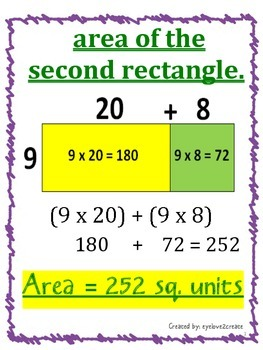 Decomposing {POSTER}  Finding Area of A LARGE Rectangle