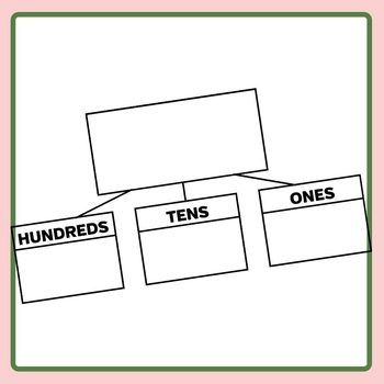 Decomposing Place Value Tree Frame Templates Clip Art Set Commercial Use