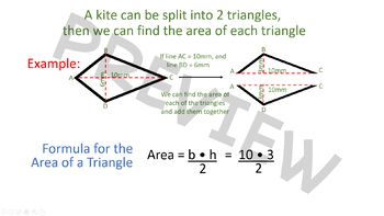 Decomposing Shapes to Find Area - Kite as Example - 6.G.1