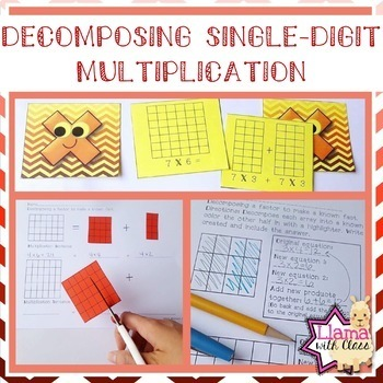 Decomposing Single-Digit Multiplication Worksheets and Memory Game