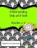 Decomposing Snip and Sort Activity (3 digit numbers)