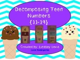 Decomposing Teen Numbers ~11-19 {Common Core Aligned}