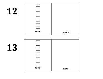 Decomposing Teen Numbers Book