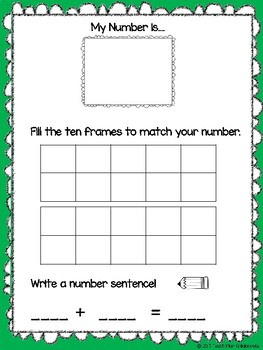 Decomposing Teen Numbers FREEBIE