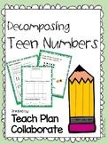 Decomposing Teen Numbers FREEBIE