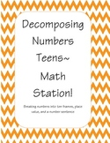 Decomposing Teen Numbers station