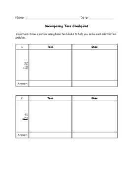 Decomposing Tens Checkpoint