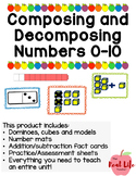 Decomposing and Composing Numbers 1-10 Task Card/ Activity BUNDLE
