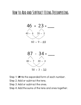 Decomposing and Number Line Instructions for Parents