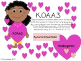 Decomposing less than 10 in Kindergarten K.OA.A.3 Valentines