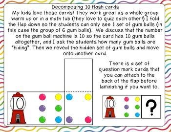 Decomposing number flap cards