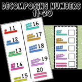 Decomposing numbers 11-20. Ten frames and Base 10 Blocks,