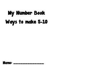 Decomposing numbers book 5-10