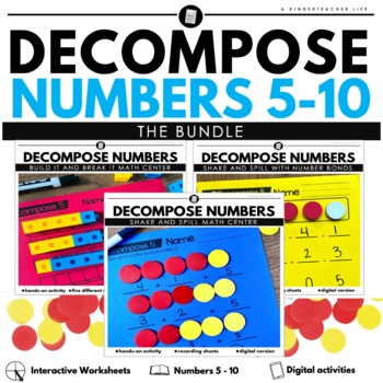 Decomposing numbers shake and spill build it and break it 5 - 10 BUNDLED